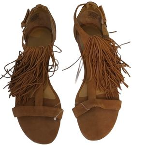 NWOT Kendall + Kylie Tessa T strap Leather Sandals